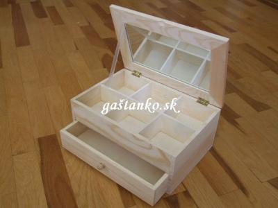 Šperkovnica 6-prieč+šuflík+zrkadlo