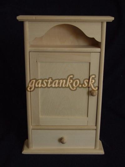 Skrinka na kľúče retro so šuflíčkom
