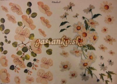 Margarétky a kvitnúci strom 3D