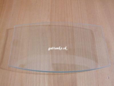 Sklenený tanier zaoblený obdľžnik 15x25cm
