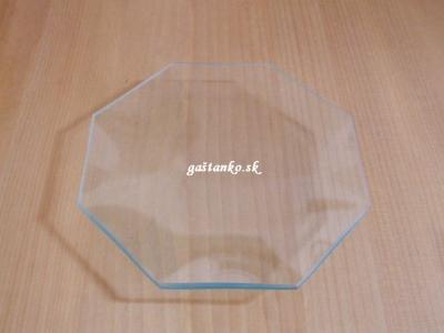 Sklenený tanier 8-hran 18cm