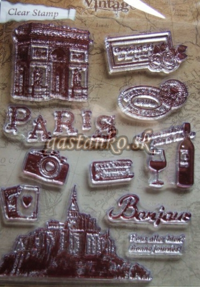 Pečiatka Vintage Paris