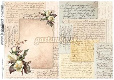 Zaľúbené listy s ružami