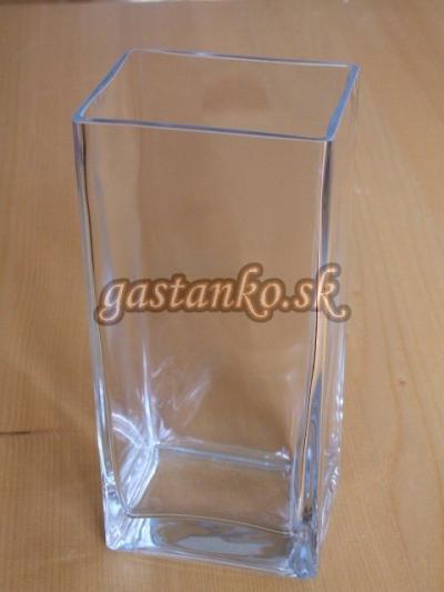Sklenená váza hranatá 10x10x30cm