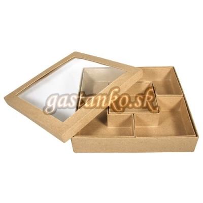 Kartónová krabička sortovacia 5-prieč.