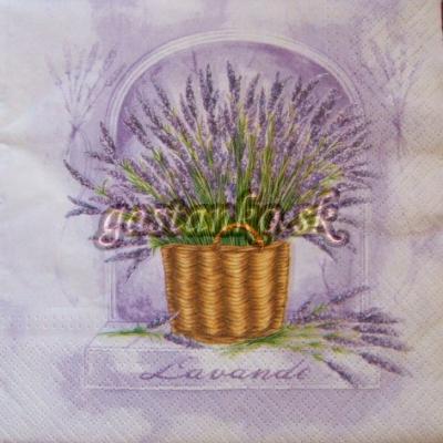 Levanduľa v košíku - lilac