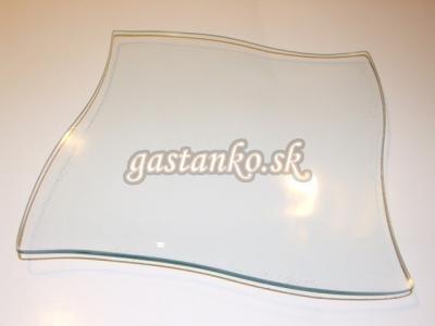 Sklenený tanier zvlnený štvorec 15x15cm