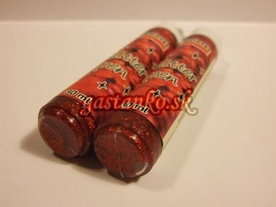 Glitrové pero červené