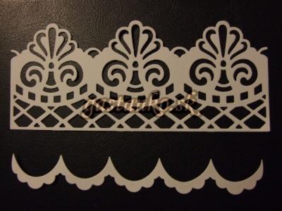 Čipkované bordúry 2x2ks biele