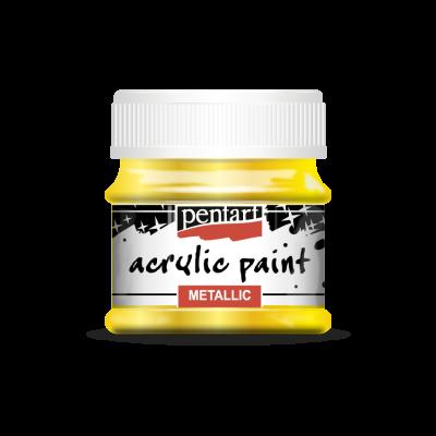 Akrylová farba metalická žltá