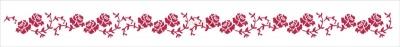 Šablóna Drobné ružičky
