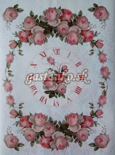 Hodiny z ruží