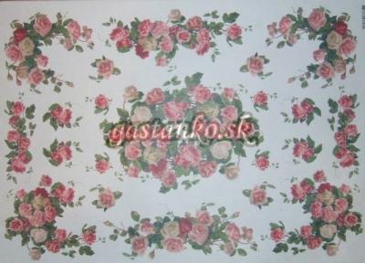 Nežné ružičkové girlandy