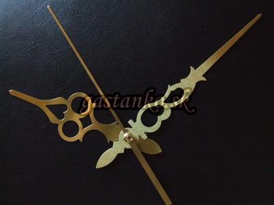 Hodinový strojček so zlatými maxiručičkami