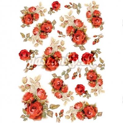 Sýtočervené ružičky