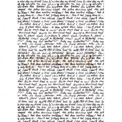 Čierne písmo na bielom