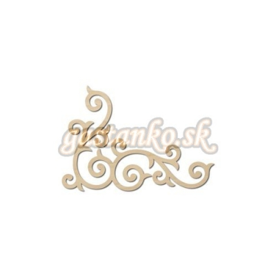 Ornament špirálkový menší