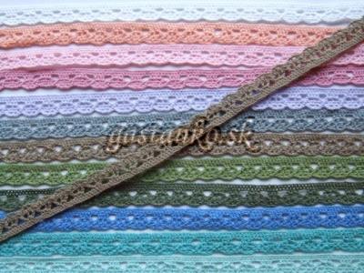 Bavlnená čipka khaki