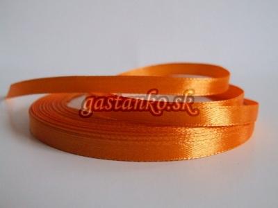 Saténová stužka 6mm oranžová