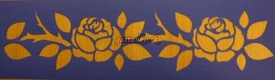 Šablóna bordúra ruží
