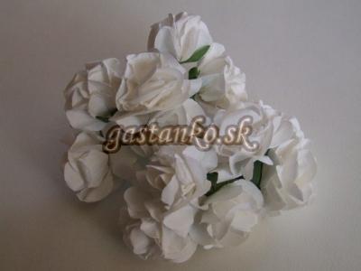 Ružičky 12ks biele