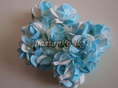 Ružičky 12ks modro-biele
