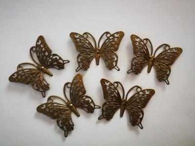 Motýľ antik bronz