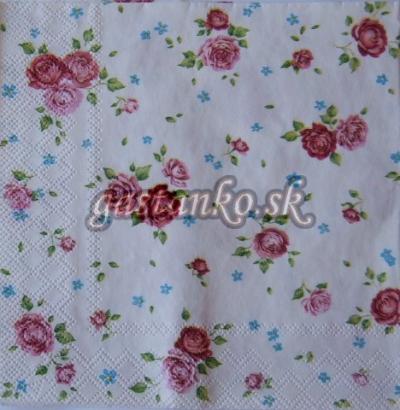 Romantické ružičky white malé