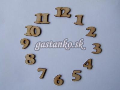 Čísla na hodiny 1až12 2cm