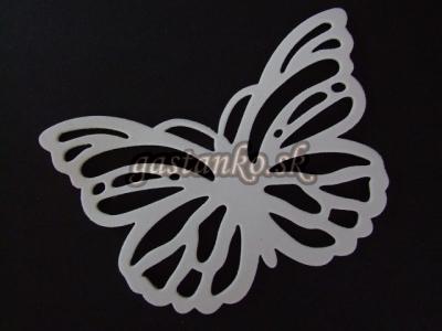 Motýľ biely 3D