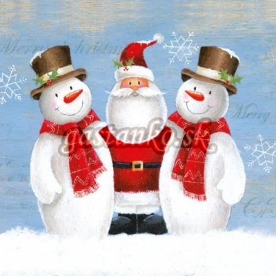 Santa a snehuliaci