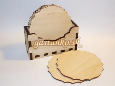 Podložky pod poháre v stojane