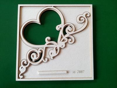 Srdiečko s ornamentom 2-vrstvové