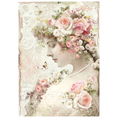 Dievča s kvetmi vo vlasoch