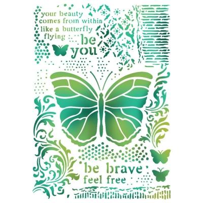 Motýľ mix media