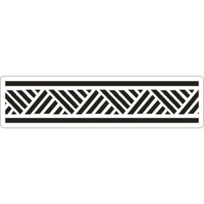 Šablóna 3D bordúra geometrická