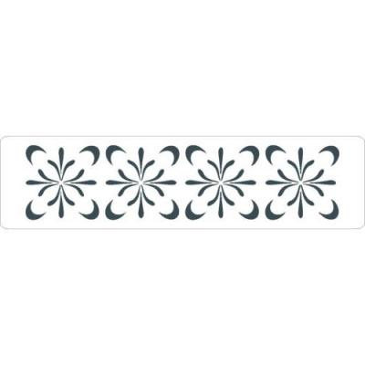 Šablóna 3D bordúra štvorlístky