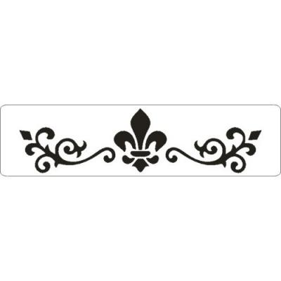 Šablóna 3D bordúra ornament s francúzskou ľaliou
