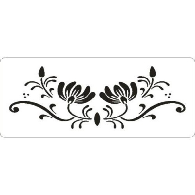 Šablóna 3D floral