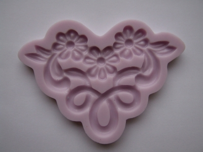 Silikónová forma 3 kvietky s ornamentom