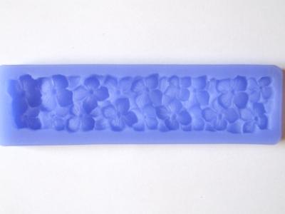 Silikónová forma prúžok hortenzií