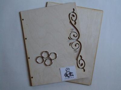 Dosky na album A4 s filigránom + 4 krúžky