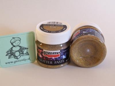Glitrová pasta jemná zlatá