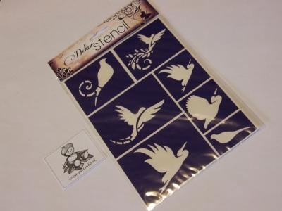 Šablóna samolepiaca - vtáčiky