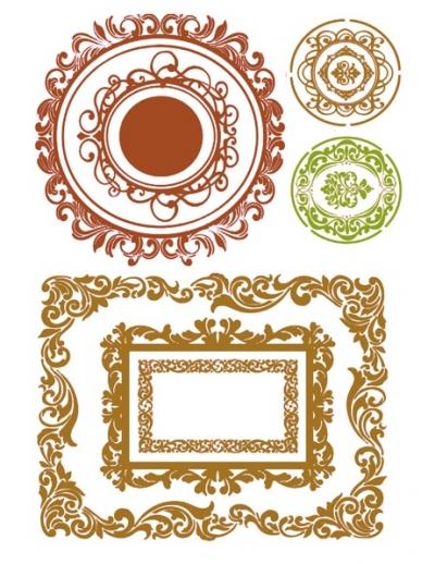 Šablóna Geometrické tvary s ornamentmi