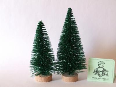 Dva stromčeky glitrované zelené