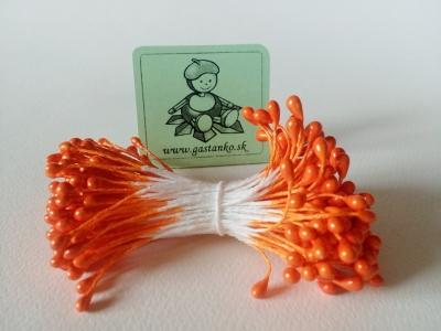 Tyčinky kvietkov lesklé oranžové