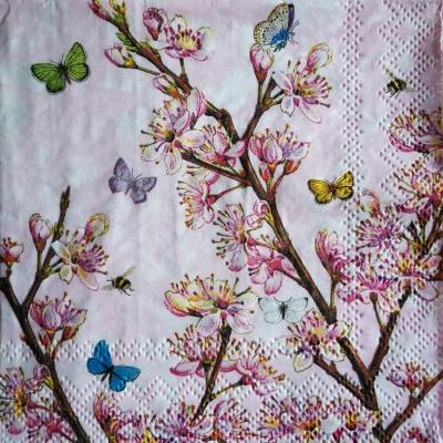 Kvitnúca broskyňa v ružovom