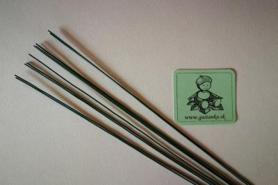 Floristický drôtik 09 zelený 30cm 10ks