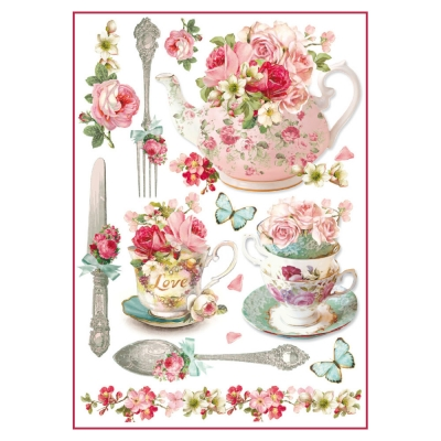 Porcelán s kvetmi